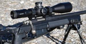Visor Kahles K624I montado sobre un rifle .308 Winchester